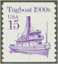 2260 15c Tugboat Coil F-VF Mint NH 2260nh