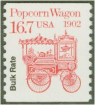 2261 16.7c Popcorn Wagon Coil F-VF Mint NH 2261nh