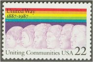 2275 22c United Way F-VF Mint NH 2275nh