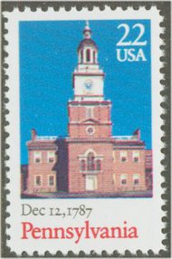 2337 22c Pennsylvania Bicentennial F-VF Mint NH Plate Block of 4 2337pb