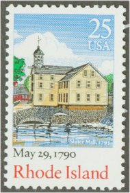 2348 25c Rhode Island Used Single 2348used