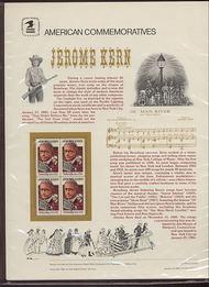 2110 22c Jerome Kern USPS Cat. 237 Commemorative Panel cp237