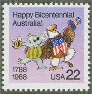 2370 22c Australia Bicentennial F-VF Mint NH 2370nh