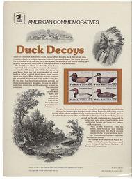 2138-41 22c Duck Decoys USPS Cat. 239 Commemorative Panel cp239