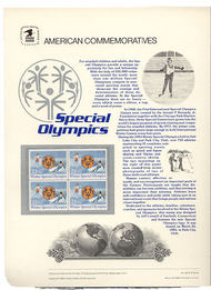 2142 22c Special Olympics USPS Cat. 240 Commemorative Panel cp240