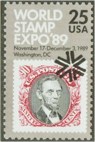 2410 25c World Stamp Expo F-VF Mint NH 2410nh