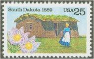 2416 25c South Dakota Statehood F-VF Mint NH 2416nh