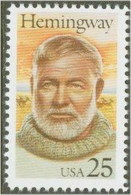 2418 25c Ernest Hemingway F-VF Mint NH 2418nh