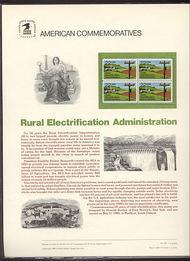 2144 22c Rural Electrification USPS Cat. 242 Commemorative Pane cp242