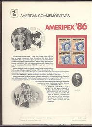 2145 22c Ameripex '86 USPS Cat. 243 Commemorative Panel cp243