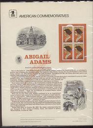 2146 22c Abigail Adams USPS Cat. 244 Commemorative Panel cp244