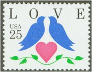 2440 25c Love-Doves & Heart F-VF Mint NH 2440nh