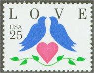 2440 25c Love-Doves & Heart F-VF Mint NH 2440nh