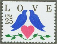 2441 25c Love-Doves & Heart from Booklet F-VF Mint NH 2441nh