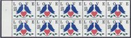 2441a 25c Love-Doves & Heart Booklet Pane F-VF Mint NH 2441abk