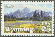 2444 25c Wyoming Statehood F-VF Mint NH 2444nh