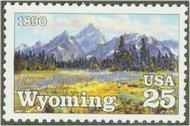 2444 25c Wyoming Statehood F-VF Mint NH 2444nh