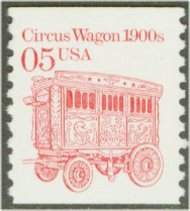 2452 5c Circus Wagon Coil Used Single 2452used