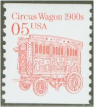 2452B 5c Circus Wagon Gravure Coil Used Single 2452bused
