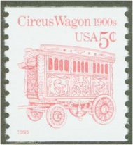 2452D 5c Circus Wagon (1995 added) Coil F-VF Mint NH 2452dnh