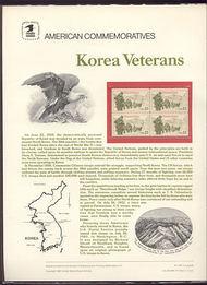 2152 22c Korea Veterans USPS 246 Commemorative Panel cp246