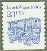 2464 23c Lunch Wagon Coil F-VF Mint NH 2464nh