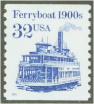 2466 32c FerryBoat Coil F-VF Mint NH 2466nh