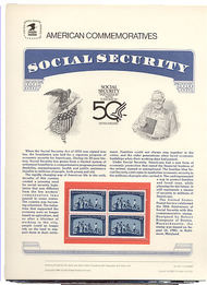 2153 22c Social Security USPS Cat. 247 Commemorative Panel cp247