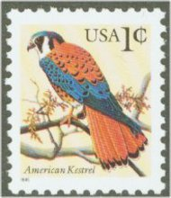 2477 1c Kestrel redrawn (1995) F-VF Mint NH 2477nh