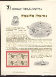 2154 22c World War I Veterans USPS Cat. 248 Commemorative Panel cp248
