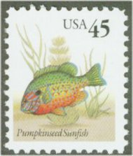 2481 45c Pumpkinseed F-VF Mint NH 2481nh