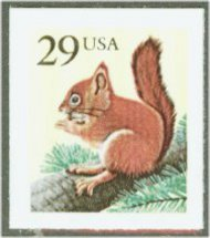 2489 29c Squirrel Self-Adhesive F-VF Mint NH 2489nh