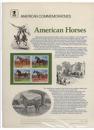 2155-58 22c Horses USPS Cat. 249 Commemorative Panel cp249