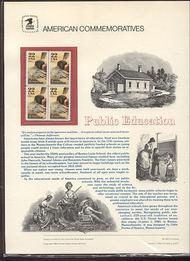 2159 22c Public Education USPS Cat. 250 Commemorative Panel cp250