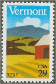 2533 29c Vermont Statehood F-VF  Used 2533used