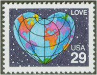 2535 29c Love F-VF  Used 2535used