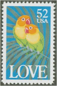 2537 52c Love F-VF  Used 2537used