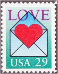 2618 29c Love Used Single 2618used