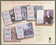 2624-9 1c-$5 Columbian Souvenir Sheets F-VF Mint NH 2624-9ss