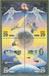 2631-4 29c Space Expoloration F-VF Mint NH 2631-4nh