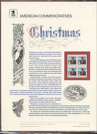 2244 22c Christmas-Traditional USPS 272 Commemorative Panel cp272