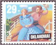 2722 29c Oklahoma Used Single 2722used