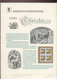 2245 22c Christmas-Contemporary USPS Cat. 273  Commemorative Panel cp273