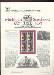 2246 22c Michigan Statehood USPS Cat. 274 Commemorative Panel cp274