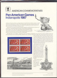 2247 22c Pan American Games USPS Cat. 275 Commemorative Panelra cp275
