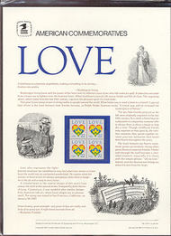 2248 22c Love-Heart USPS Cat. 276 Commemorative Panel cp276