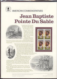 2249 22c Du Sable USPS Cat. 277 Commemorative Panel cp277