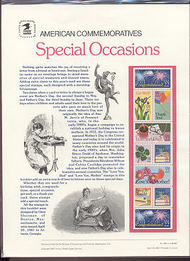 2274a 22c Special Occasions USPS Cat. 280 Commemorative Panel cp280