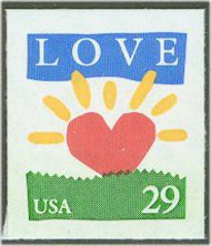 2813 29c Love/Sunrise F-VF Mint NH 2813nh