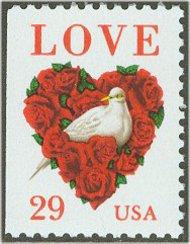 2814 29c Love & Dove F-VF Mint NH 2814nh
